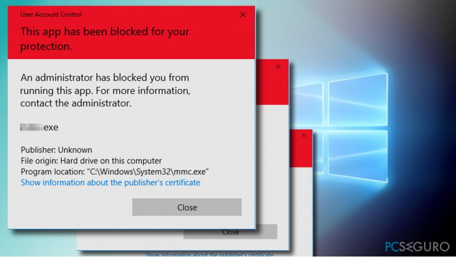 """How to fix """"An administrator has blocked you from running this app"""" error on Windows 10?"""