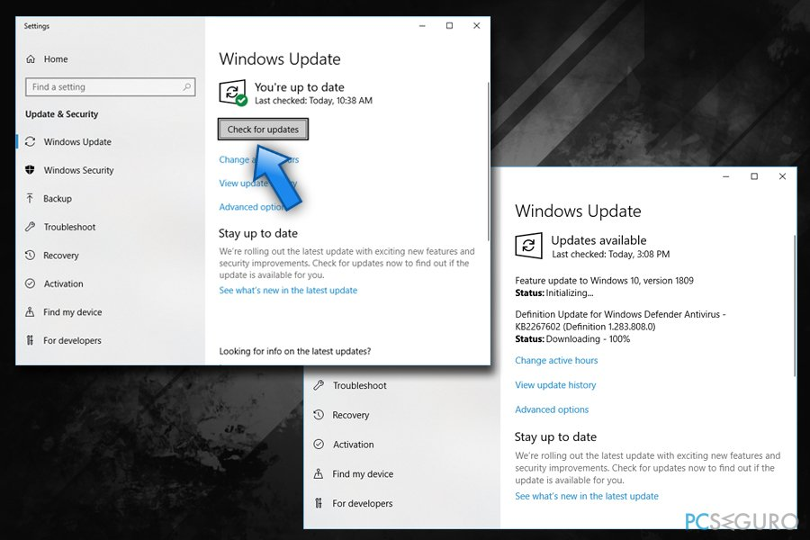 Check for Chrome and Windows updates