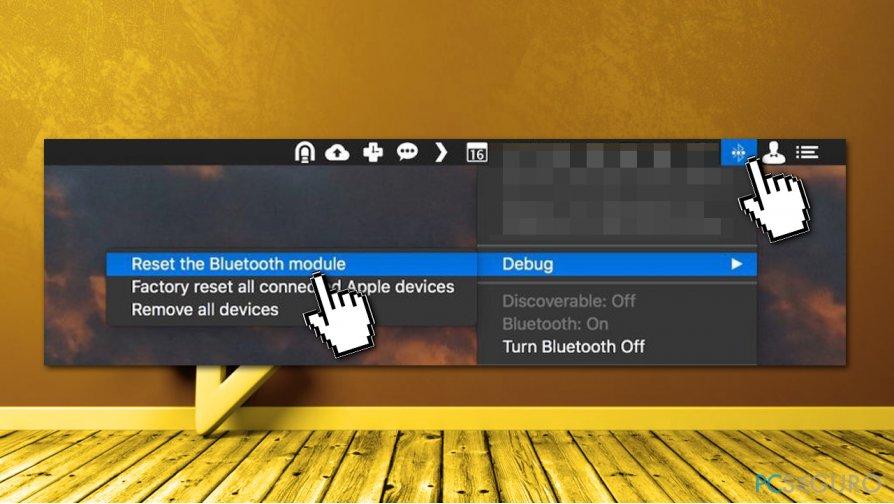 Reset Bluetooth module