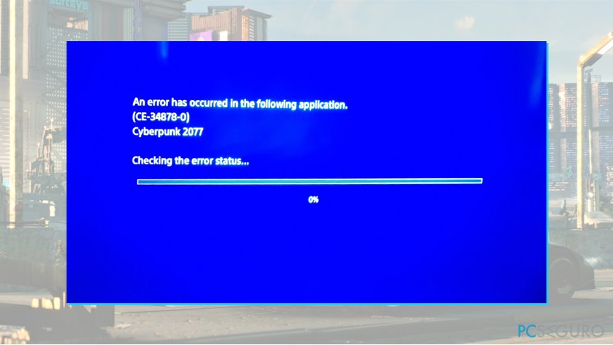CE-34878-0 error fix on PlayStation 4