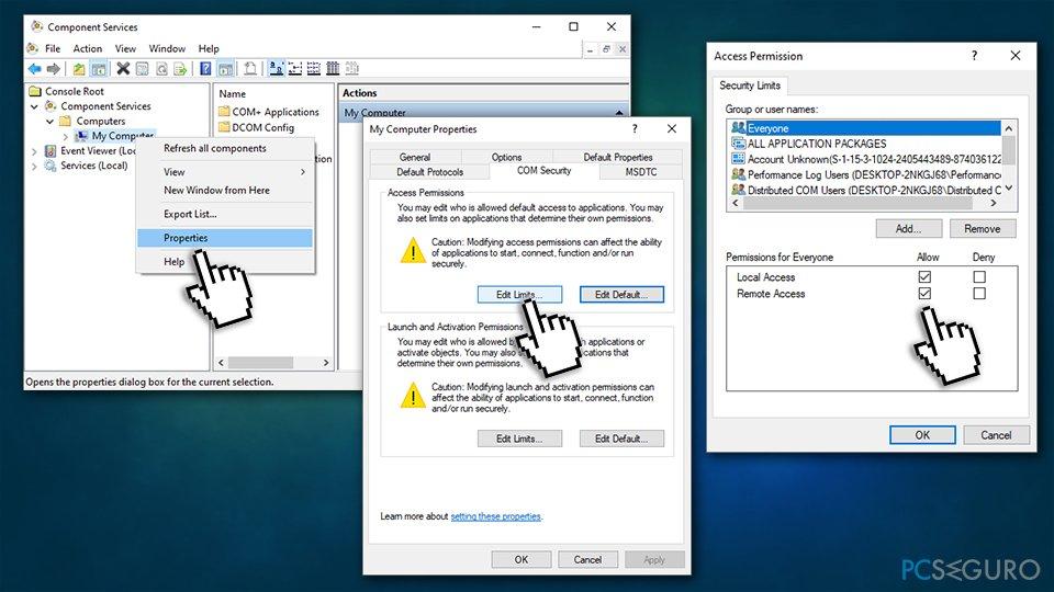Configure DCOMCnfg.exe file