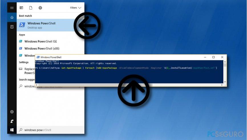 Fix 0x803F8001 error message