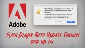 """¿Cómo solucionar el pop-up de Mac """"Flash Player Auto Update Daemon""""?"""