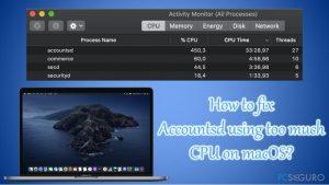 ¿Cómo solucionar Accountsd usando demasiado CPU en macOS?
