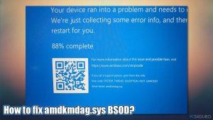 ¿Cómo solucionar el error amdkmdag.sys en Windows 10?