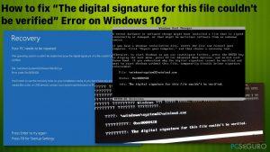 """¿Cómo solucionar el error """"La firma digital para este archivo no pudo ser verificada"""" en Windows 10?"""