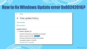 ¿Cómo solucionar el error 0x80242016 de Windows Update?