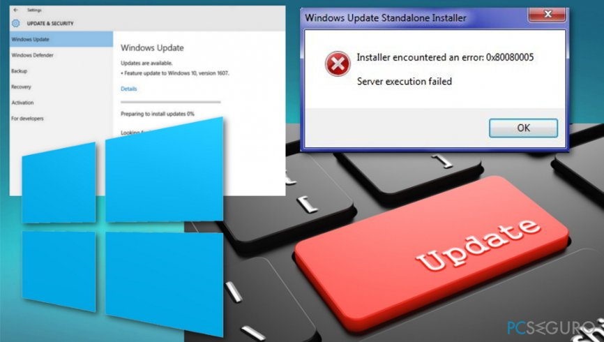 Windows Updates recently cause number of errors