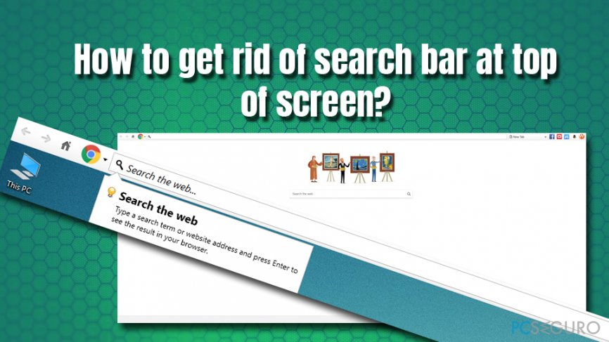 Get rid of search bar at the top of the screen
