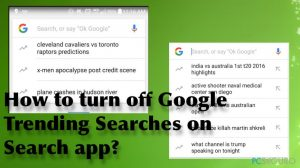 ¿Cómo desactivar las búsquedas de tendencias de Google en la aplicación de búsqueda?