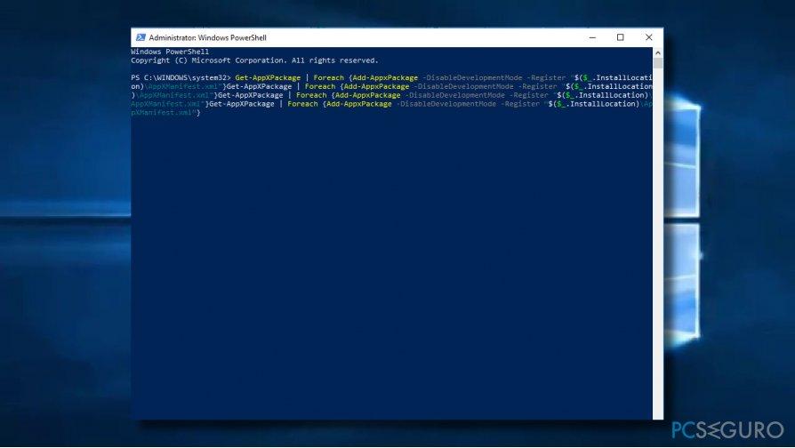 Run Windows PowerShell scrip