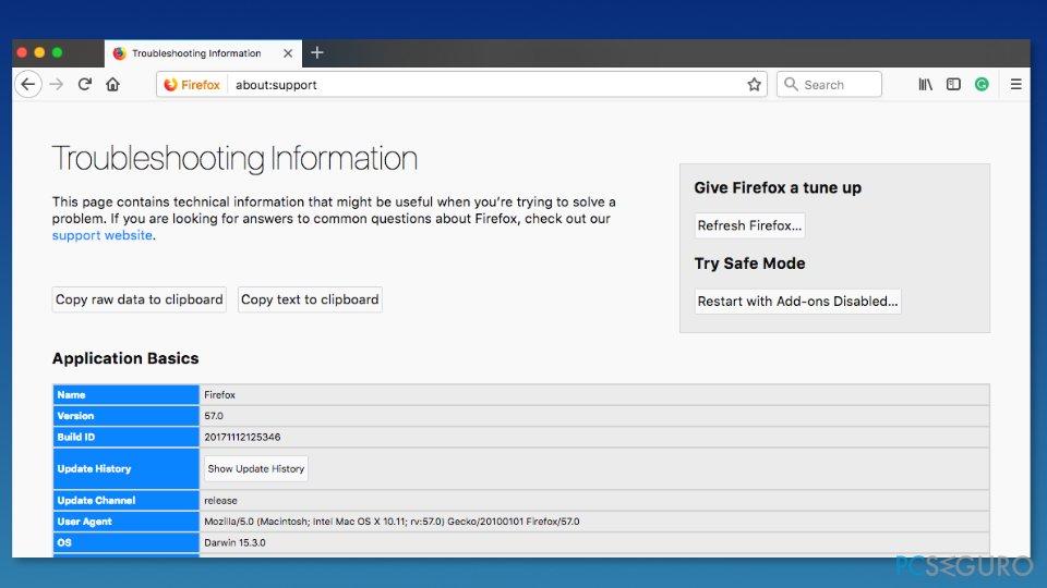 Refresh Mozilla Firefox