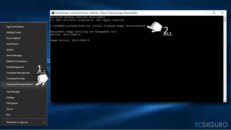 Use Command Prompt to fix Service Host error
