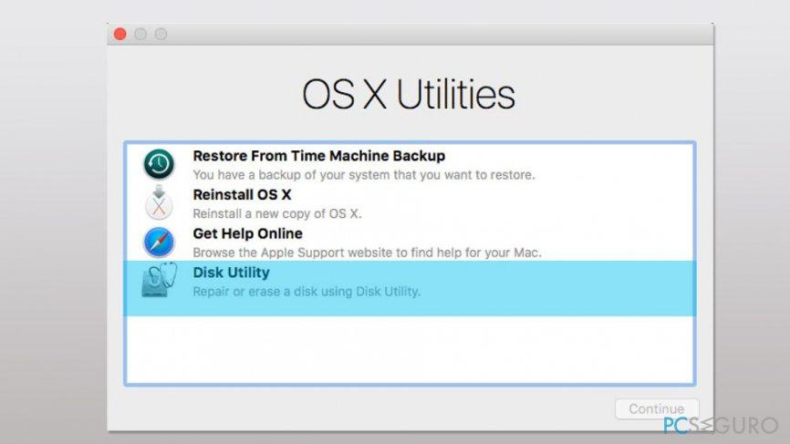 Run Disk Utility