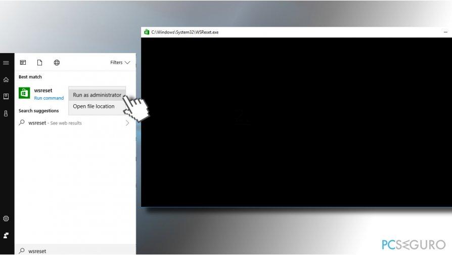 Clear Windows Store cache