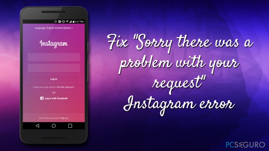 Sorry there was a problem with your request error fix
