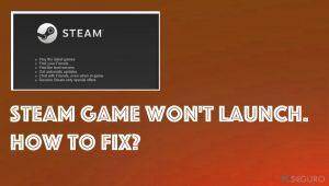 Un juego de Steam no se abre. ¿Cómo solucionarlo?