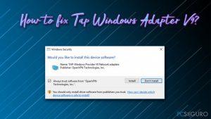 ¿Cómo solucionar Tap Windows Adapter V9?