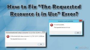"""¿Cómo solucionar el Error """"El Recurso Requerido está en Uso""""?"""