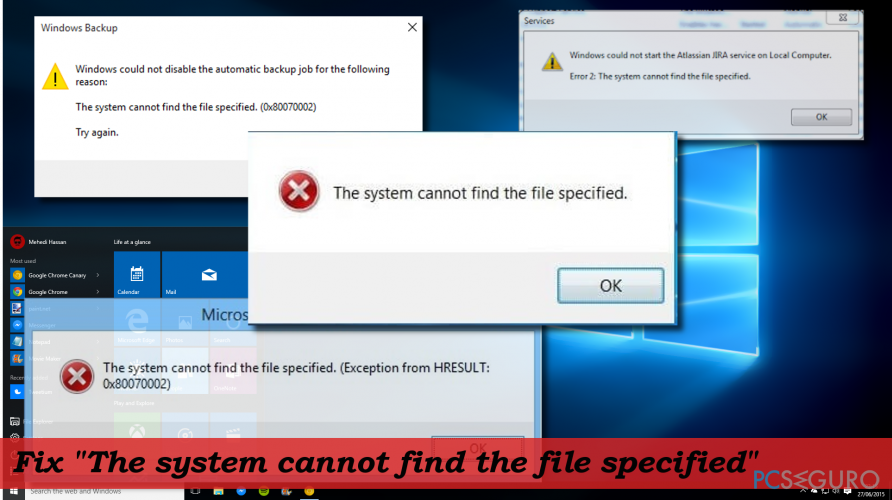 How to fix «The system cannot find the file specified» error on Windows 10?