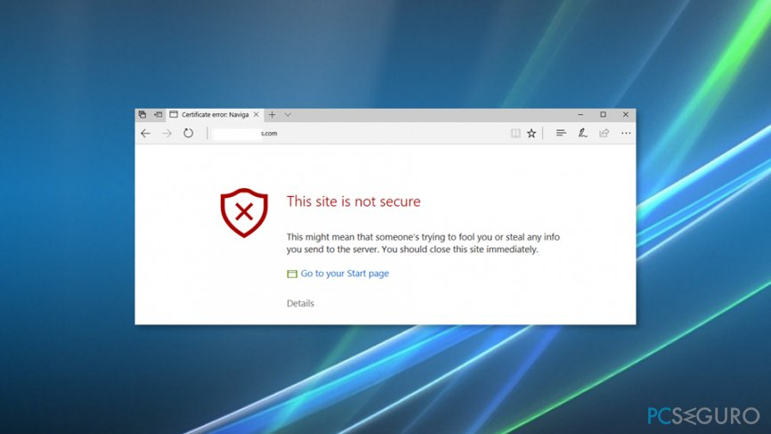 How to Fix «This site is not secure» pop-up with an error code DLG_FLAGS_SEC_CERT_CN_INVALID?