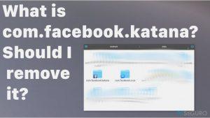 ¿Qué es com.facebook.katana? ¿Debería eliminarlo?