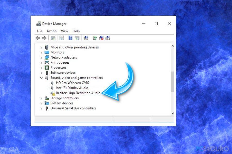 Fix Audio Drivers on Windows 10 issue