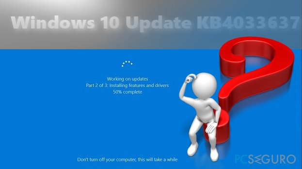 It is recommended to wait for official MS response about Windows 10 Update KB4033637