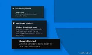 Windows Defender identifica la misma amenaza repetidamente - ¿cómo solucionarlo?