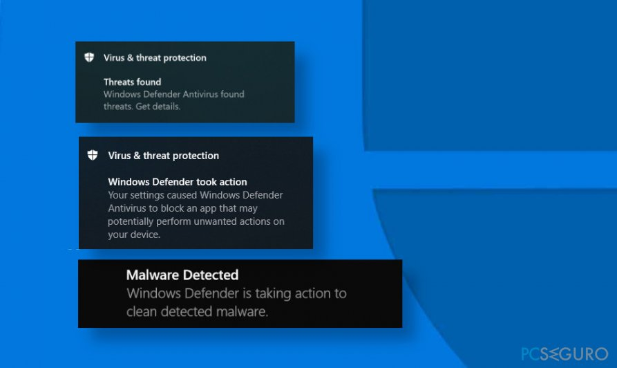 Windows Defender i identifying the same threat repeatedly