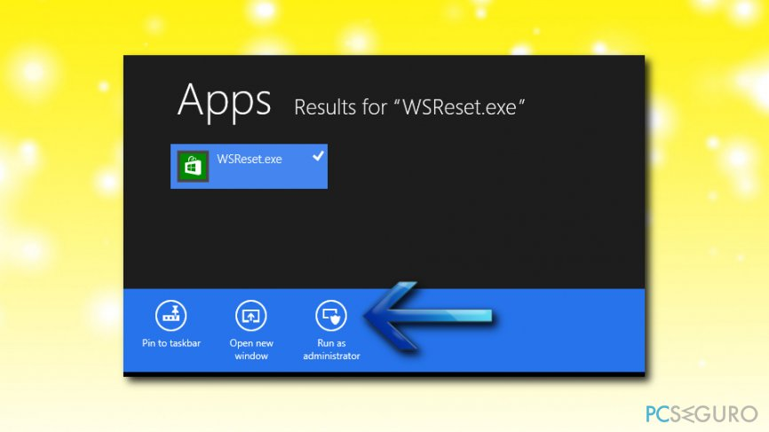 Windows Store error use wsreset
