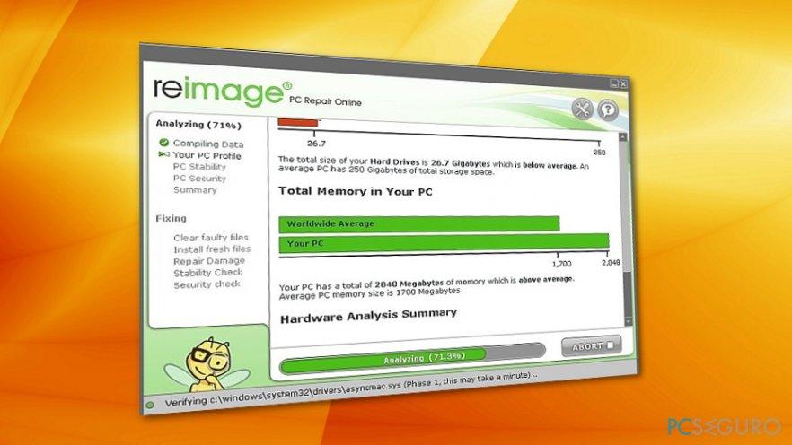 reimage malware encontrado